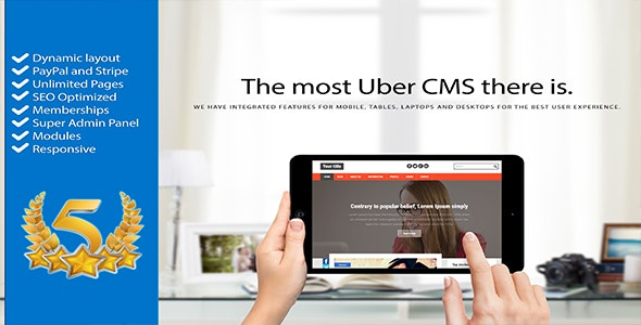 CMS Uber Content Management System - CodeCanyon Item for Sale