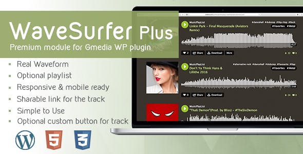 WaveSurfer Plus v1.12 - MP3 Player module for Gmedia plugin