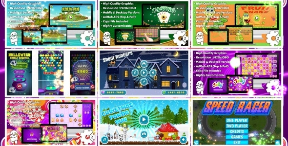 HTML5 GAMES BUNDLE №3 (Construct 3   Construct 2   Capx) - CodeCanyon Item for Sale