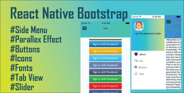 React Native Bootstrap - CodeCanyon Item for Sale