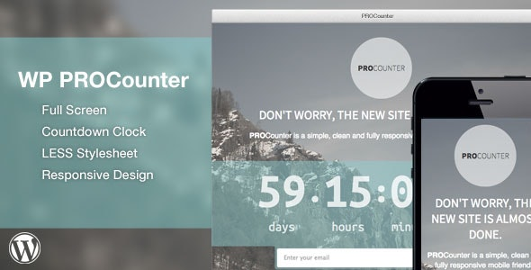 WP Countie: Responsive Countdown Landing Page - CodeCanyon Item for Sale