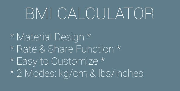 BMI Calculator (Material Design)
