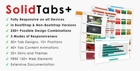 SolidTabs+ | Ultra-Responsive BootStrap Tabs