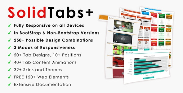 SolidTabs+ | Ultra-Responsive BootStrap Tabs - CodeCanyon Item for Sale