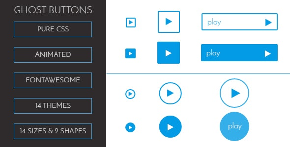 CSS3 Animated Ghost buttons - CodeCanyon Item for Sale