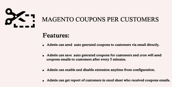 Magento Coupon Per Customer