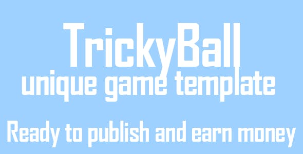 Trickyball Android game unique gameplay buildbox file included - eclipse included