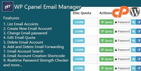 Hezecom Cpanel Email Manager - WordPress Plugin