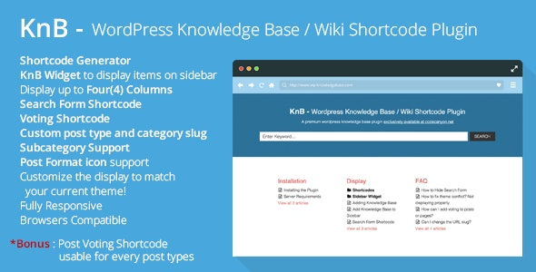 KnB - WordPress Knowledge Base / Wiki Shortcode - CodeCanyon Item for Sale