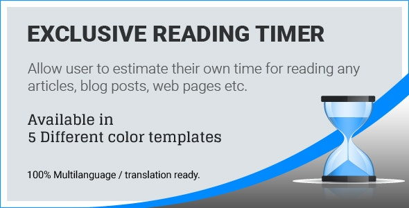 Exclusive Reading Timer - CodeCanyon Item for Sale