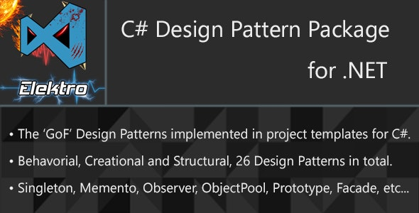 Design Patterns For C By Elektrostudios Codecanyon,Creative Graphic Designer Logo Png