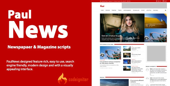 PaulNews - newspaper and magazine script - CodeCanyon Item for Sale