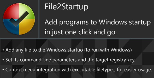 File2Startup - Add any program to Windows startup easy