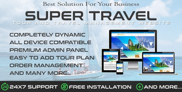 Travo - Travel Agency & Tourism Management - CodeCanyon Item for Sale