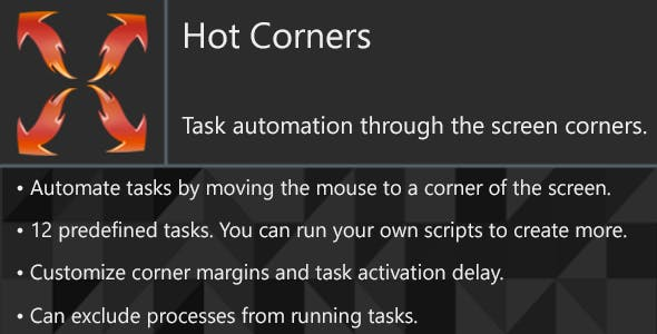 Hot Corners - Automate your daily tasks on Windows