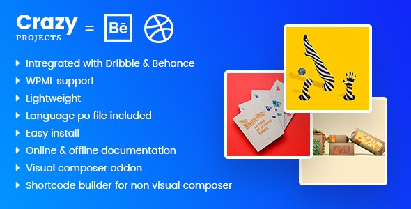 CrazyProjects - Dribbble & Behance projects showcase - CodeCanyon Item for Sale