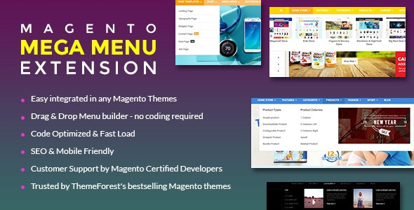 Magento 2 Mega Menu Extension - EM MegaMenu2 - CodeCanyon Item for Sale