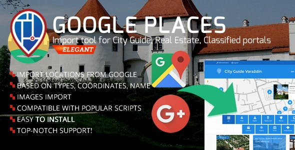 City Guide - Google Places/Businesses Import