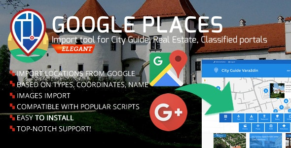 City Guide - Google Places/Businesses Import - CodeCanyon Item for Sale