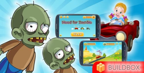 Need for Zombie - Buildbox 2 Template Game - CodeCanyon Item for Sale