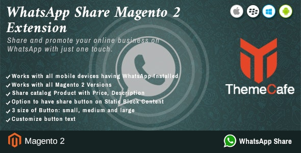 Whatsapp Share Magento 2 Extension - CodeCanyon Item for Sale