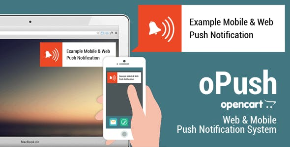 Opencart Web - Mobile Push Notification