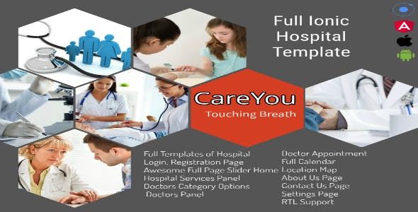 Hospital Ionic Application Support i18n