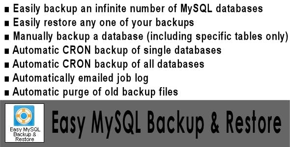 Easy MySQL Backup & Restore