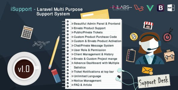 iSupport - Multi Purpose Support Ticket System