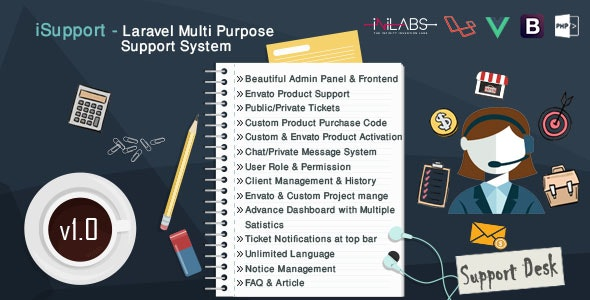 iSupport - Multi Purpose Support Ticket System - CodeCanyon Item for Sale