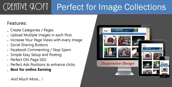 CreativeXoft - Image Gallery Script