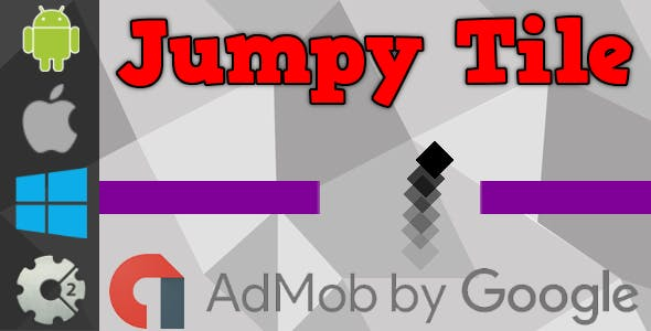 Jumpy Tile - HTML5 Game + Admob (Construct 2 - CAPX)