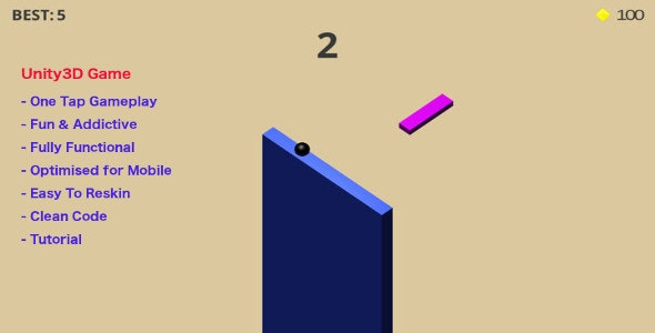 3D Challenge Game Made with Unity3d For iOs - CodeCanyon Item for Sale