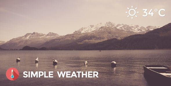 Weather WordPress Shortcode & Widget - Simple Weather Plugin