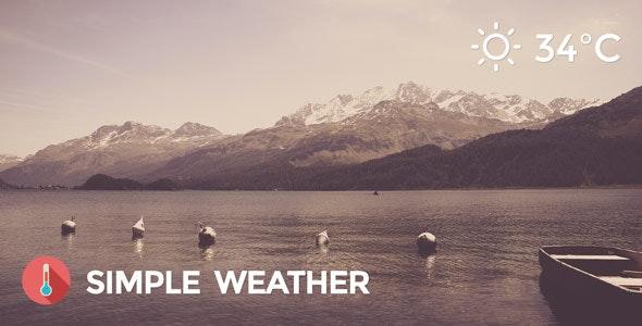 Weather WordPress Shortcode & Widget - Simple Weather Plugin - CodeCanyon Item for Sale
