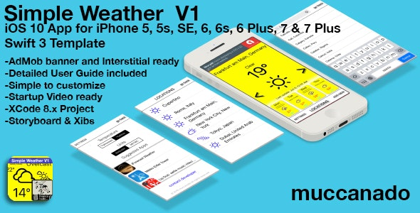 Simple Weather V1 - CodeCanyon Item for Sale