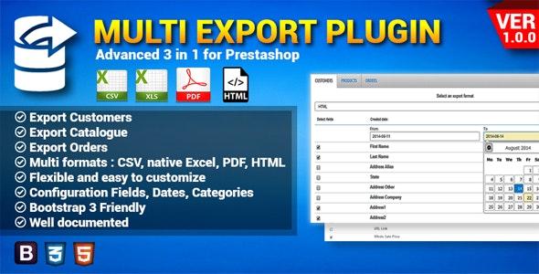 Prestashop Multi Exporter - CodeCanyon Item for Sale