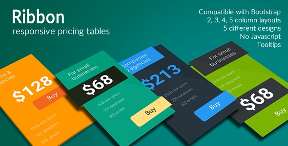 Ribbon - Responsive Pricing Tables - CodeCanyon Item for Sale