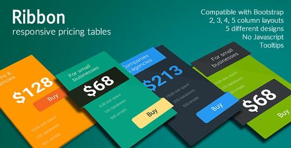 Ribbon - Responsive Pricing Tables