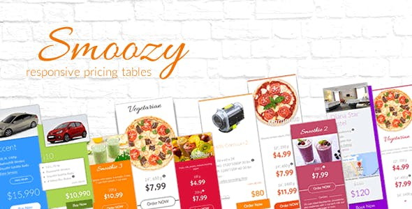 Smoozy - Responsive Pricing Tables