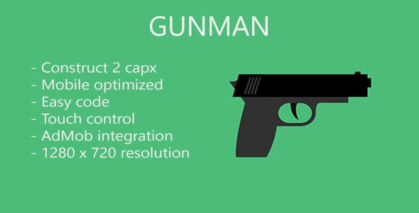 Gunman - HTML 5 game (Construct 2) + mobile app + AdMob