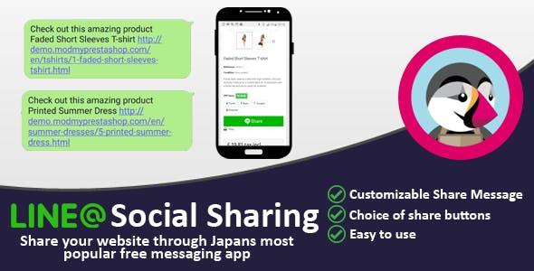 Line Social Sharing