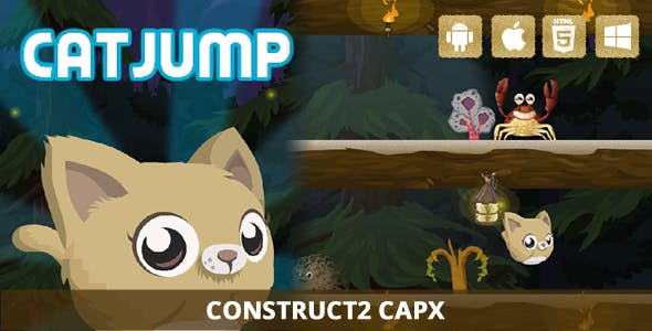 Cat Jump - HTML5 Game (Capx)