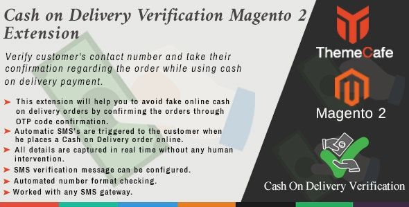 Cash on Delivery Verification Magento 2 Extension - CodeCanyon Item for Sale