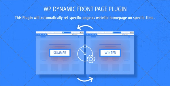 WordPress Dynamic Front Page Plugin - CodeCanyon Item for Sale
