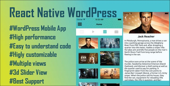 React Native WordPress Mobile App - CodeCanyon Item for Sale