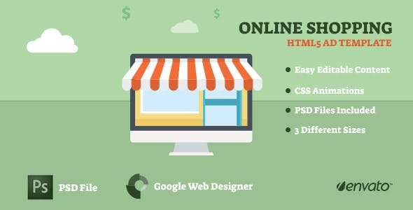 Online Shopping Animated AD Template