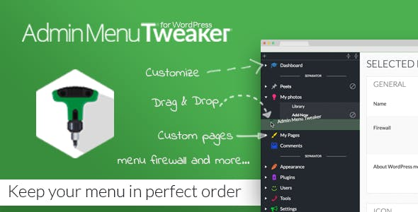 Admin Menu Tweaker for WordPress