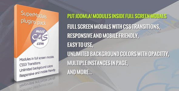 Super Modals for Joomla! Modules. Module in Full Screen Modal
