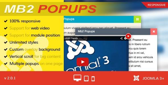 Mb2 Popups - Joomla Popup Module